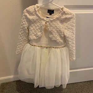 Girls off-white/cream dress